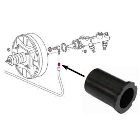 Joint bague sur le tuyau de dépression du servo frein, T2, '74-'79 + T3