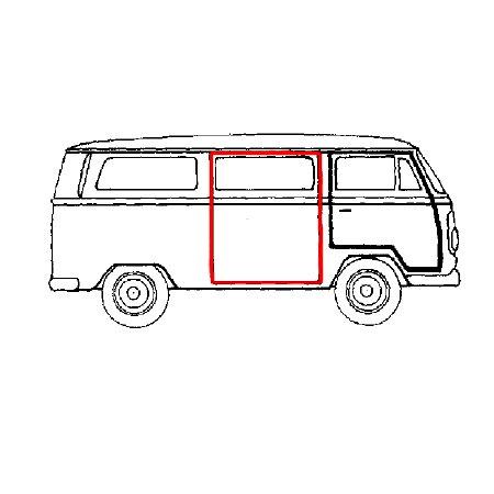 VW BAY WINDOW Espaceur plaque de porte coulissante en acier inoxydable Kit