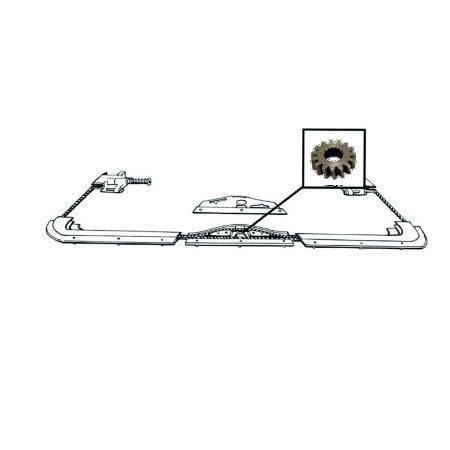 Pignon d'entrainement de mécanisme de toit ouvrant 08/63-07/76