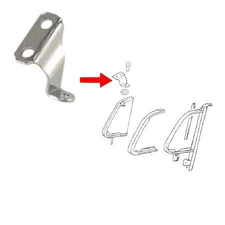 Patte de pivot chromée de déflecteur gauche -64