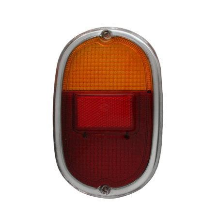 vitre de feu arriére T2 60-71 Europe rouge/orange avec bord chromé