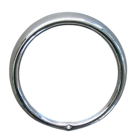 cercle de phare avant 68- 1trou chrome
