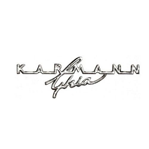 """Insigne 'Karmann Ghia"""" sur tableau de bord 08/67-"""