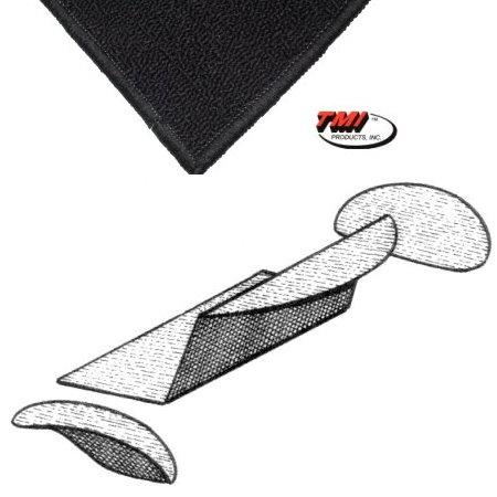 Kit moquette de coffre arrière  NOIRE 58-64