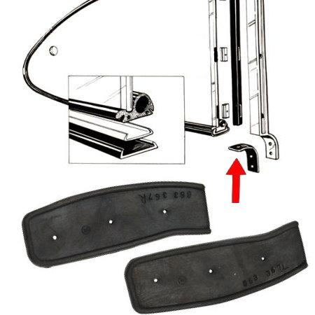 Joints d'appui du montant vertical de pop-out arrière sur caisse 6074