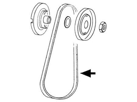 Courroie moteur TYPE 3 (10/1000)