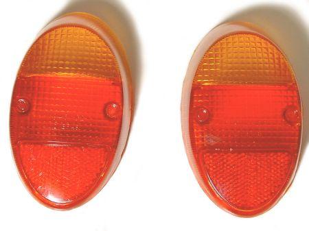 Verres de remplacement, Orange/rouge, version Europe, par paire