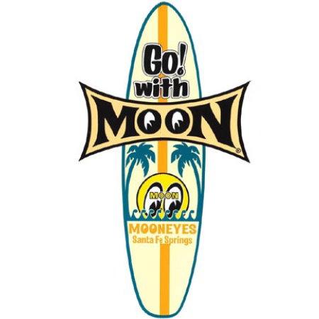 """Autocollant """"MOON SURFBOARD"""" (225x126mm)"""