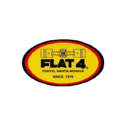"""Autocollant """"Flat-4"""" 3 pièces"""