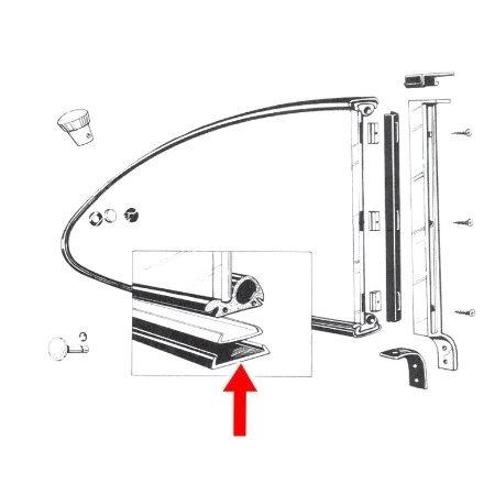 joints (2) de vitre latérale pop out entre cadre et caisse  60-71