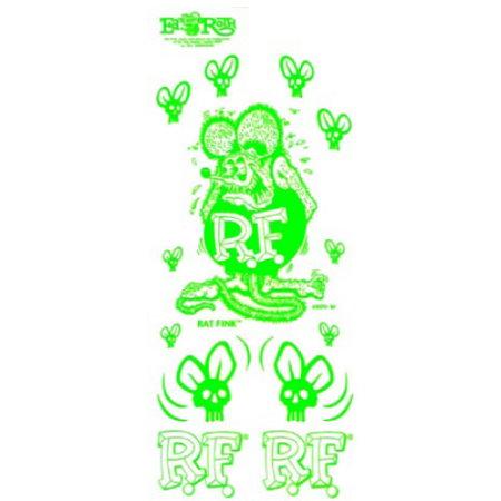 """set de stickers RAT FINK """"BLANC"""""""