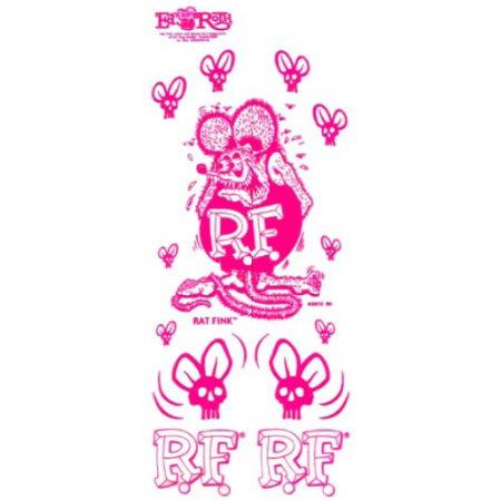 set de stickers RAT FINK rose