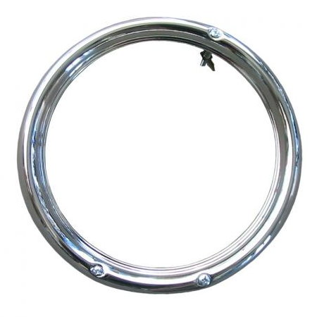 cercle de phare avant 68- 3 trou chrome Q+