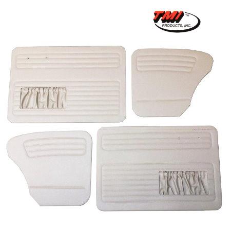 set de 4 panneaux de porte gris clair (off white #15) avec vide poche 65-66 TMI