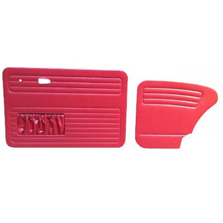 set de 4 panneaux de porte rouge (red #17) avec vide poche 7/67- TMI