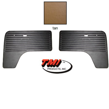 set de 2 panneaux de porte avant Bay Window 68-79 Tan TMI