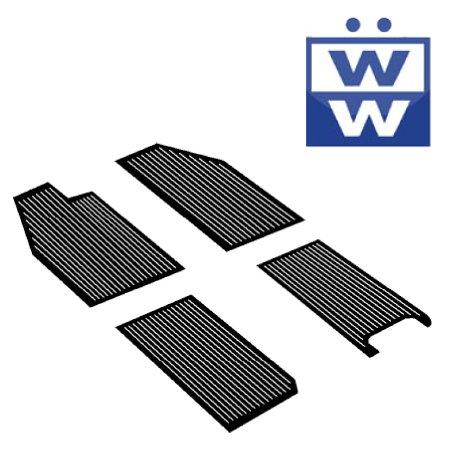 Set de 4 tapis caoutchoucs noirs -53