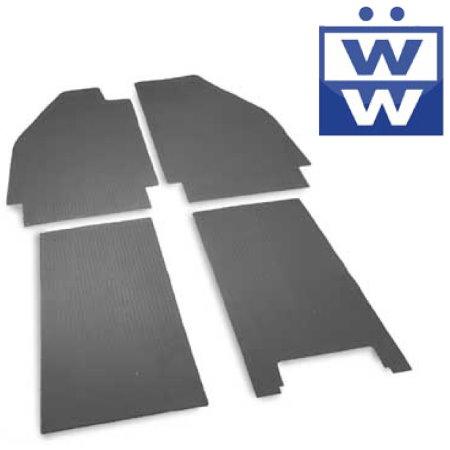 Set de 4 tapis caoutchoucs noirs 53-55