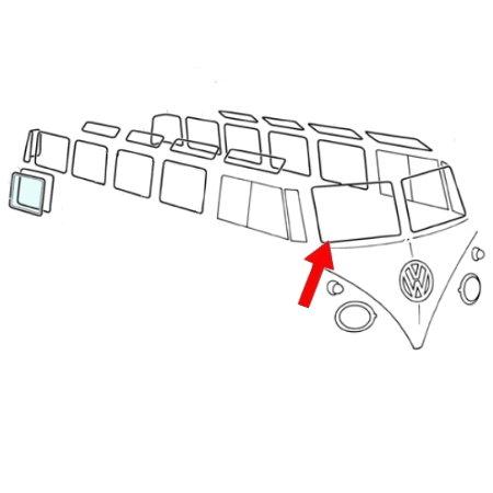 Joint vitre avant  droite ou gauche Type2 67