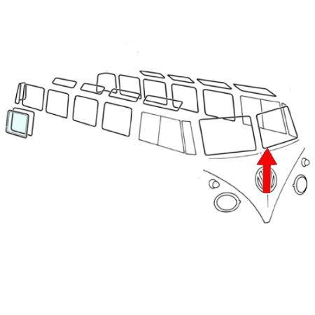 Joint vitre avant gauche. Qualité supérieure avec des angles préformés