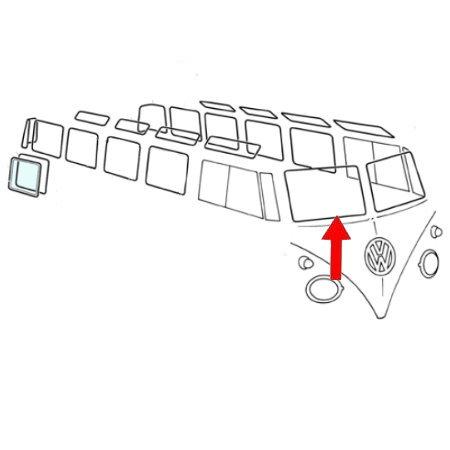 Joint vitre avant droite, qualité supérieure avec des angles préformés