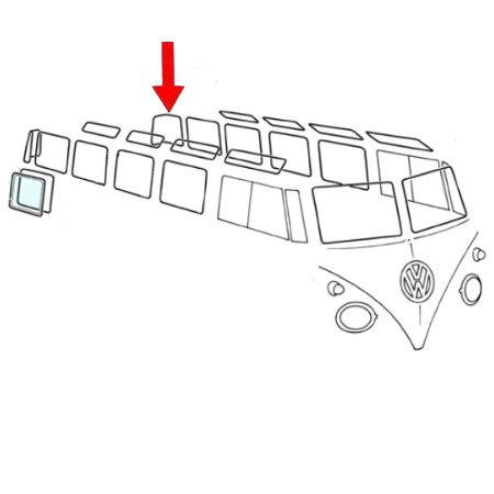 Joint de vitre d'angle de coin arrière, par pièce