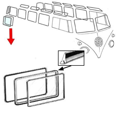 Joint extérieur, pop-out, de vitre latérale, par pièce
