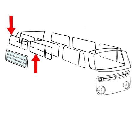 joint de vitre latérale centrale ou arrière gauche/droite,prévu pour déflecteur