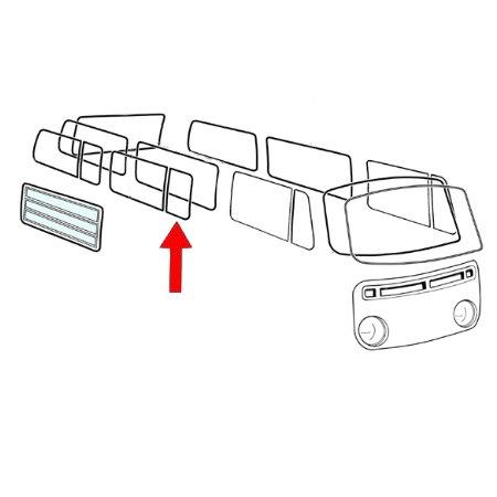 Joint de déflecteur latéral, central, arrière, gauche/droite, par pièce