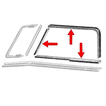 kit de joints de vitres coulissantes T2 50-67 (6 pièces)