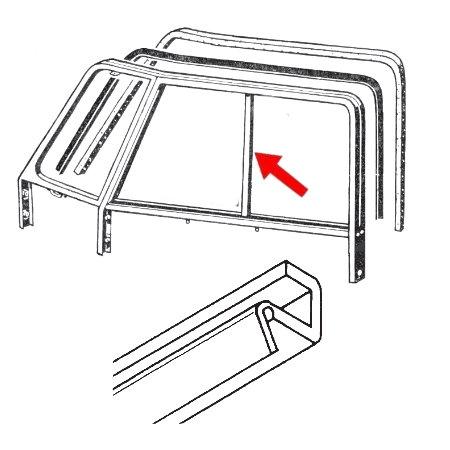 set de 2 lèches vitres verticaux de vitre coulissante de porte T2 -67