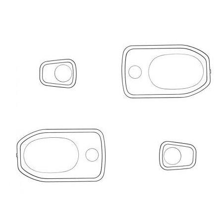 Joints de poignées de porte noire Type2 08/68-07/79 (4 pièces)
