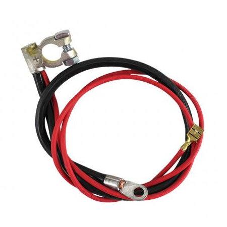 Câble positif de batterie, noir 540 mm, rouge 980 mm  Type 2 08/71-07/79