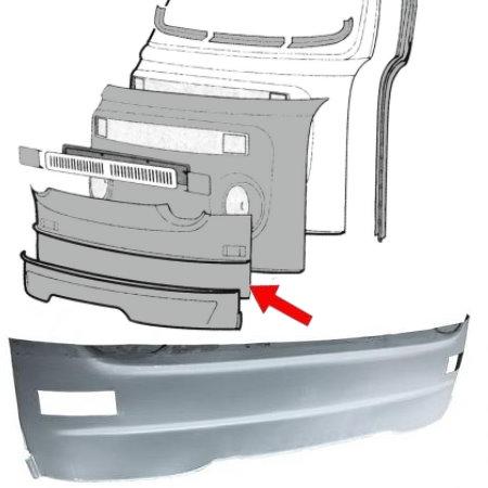 bas de face avant T2 68-72 avec les trous de clignotants