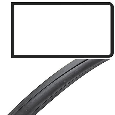Joint de vitre latérale au milieu avec déflecteur Deluxe Type 2 08/67-07/79