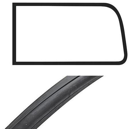 Joint de vitre latérale arrière avec déflecteur Deluxe Type 2 08/67-07/79