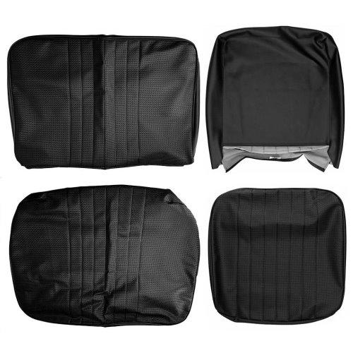 Housse de siège avant noir 1/3 2/3 Combi 08/67-07/72 basket weave