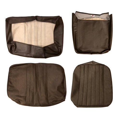 Housse de siège avant marron 1/3 2/3 Combi 08/67-07/72 basket weave