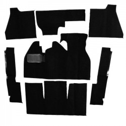 Kit moquette intérieur NOIRE 1302