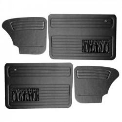 set de 4 panneaux de porte noirs avec vide poche 67- TMI