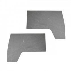 Panneaux de porte avant, PVC, gris, par paire