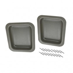 Bac panneaux de porte avant, PVC, gris, par pair