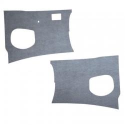 Panneaux plastique gris, devant les pieds, par paire