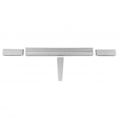 Structure du panneau de séparation entre coffre et réservoir . Combi Split pick-up simple cabine 03/55-07/67
