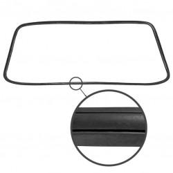 Joint vitre arrière 'Deluxe' (moulure métal) Type3 Fastback 08/66-