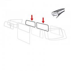 Joint de vitre latéral deluxe avec angles préformés (Qualité allemande)