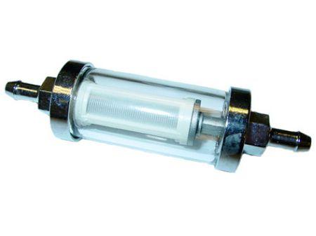 Filtre chromé démontable pour tuyau Ø 8 mm