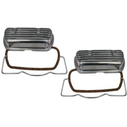Caches soupapes Type1 aluminium avec clips (paire)