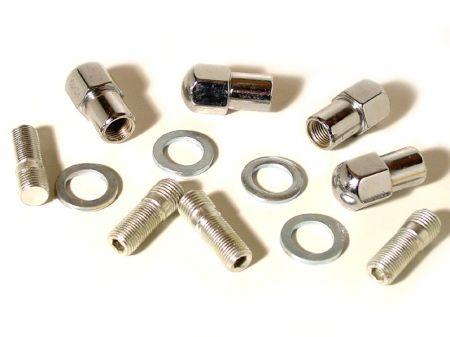 kit goujons-écrous à appui carré pour 4 trous diam 14mm (14x1.5)