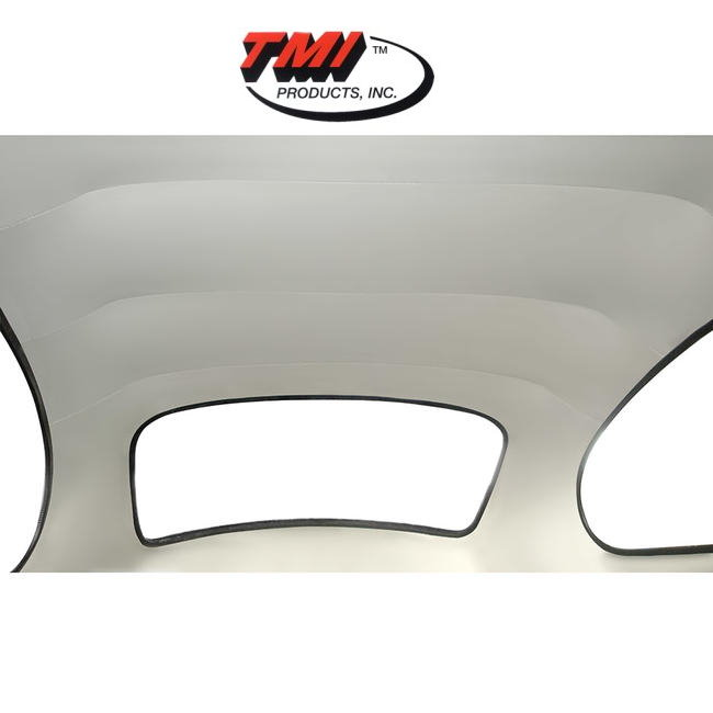 .ciel de toit blanc 58-67 en vinyl blanc perforé (TMI #44)
